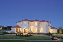House Plan Design - Mediterranean Exterior - Front Elevation Plan #952-196