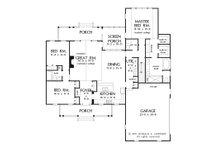 Ranch Floor Plan - Main Floor Plan Plan #929-938