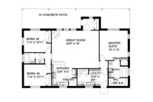 Cabin Floor Plan - Main Floor Plan Plan #117-857