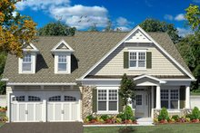 Dream House Plan - Craftsman Exterior - Front Elevation Plan #316-282