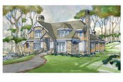 Craftsman Style House Plan - 4 Beds 4.5 Baths 4860 Sq/Ft Plan #928-235 Exterior - Front Elevation