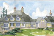 Traditional Style House Plan - 5 Beds 4.5 Baths 4624 Sq/Ft Plan #928-33 Exterior - Rear Elevation