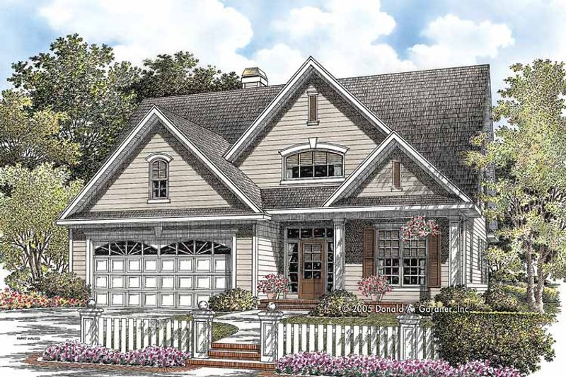Country Exterior - Front Elevation Plan #929-757 - Houseplans.com