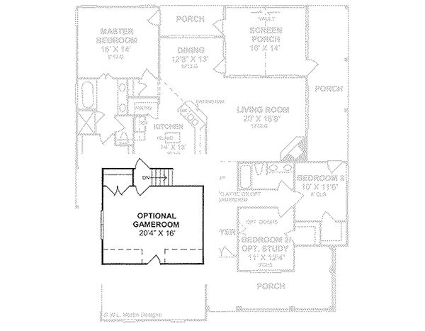 Dream House Plan - Traditional house plan, floor plan