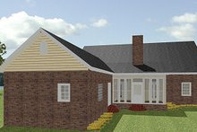 House Plan Design - Southern Exterior - Rear Elevation Plan #44-154