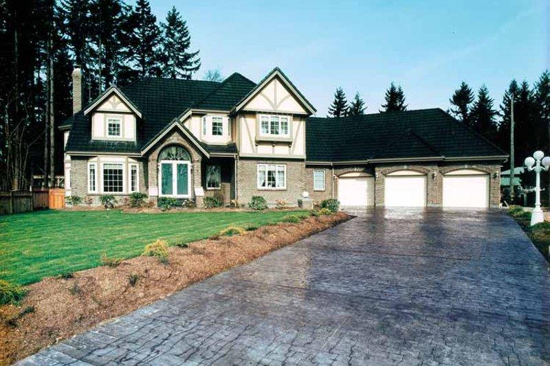 House Blueprint - European Exterior - Front Elevation Plan #47-752