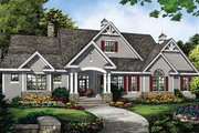 Ranch Style House Plan - 4 Beds 3 Baths 2909 Sq/Ft Plan #929-1016 Exterior - Front Elevation