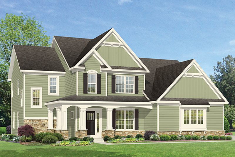 Traditional Exterior - Front Elevation Plan #1010-134 - Houseplans.com