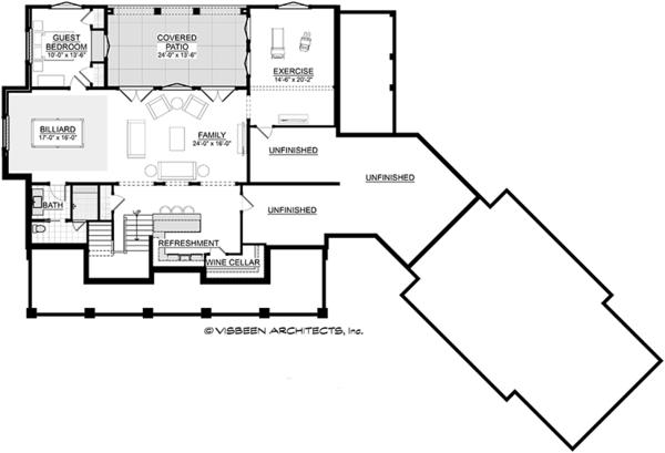 Country Floor Plan - Lower Floor Plan Plan #928-294