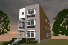 House Design - Contemporary Exterior - Front Elevation Plan #535-19