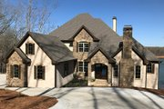 Country Style House Plan - 4 Beds 4.5 Baths 4371 Sq/Ft Plan #437-81 Exterior - Front Elevation
