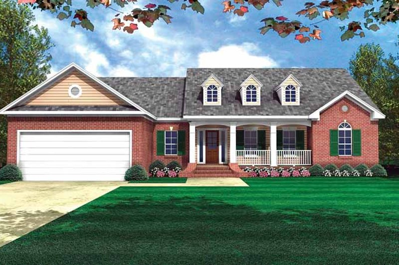House Design - Country Exterior - Front Elevation Plan #21-407