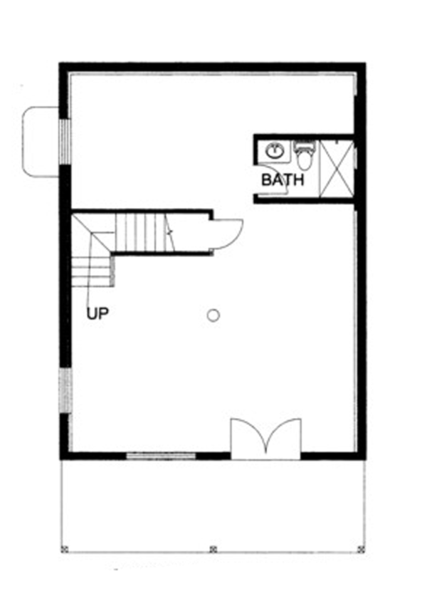 Log Floor Plan - Lower Floor Plan Plan #117-821