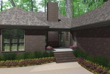 Home Plan - Country Exterior - Rear Elevation Plan #406-9627