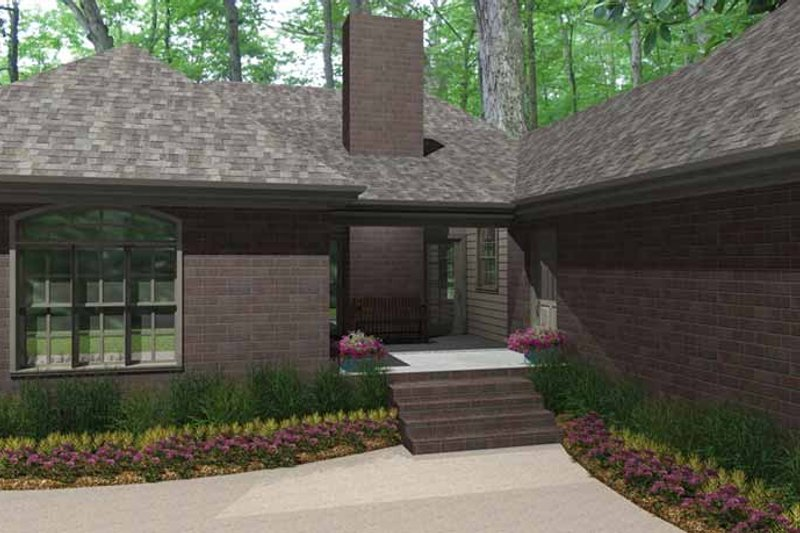 Country Exterior - Rear Elevation Plan #406-9627 - Houseplans.com