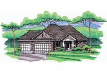 House Plan Design - European Exterior - Front Elevation Plan #51-971