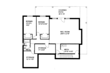 Craftsman Floor Plan - Lower Floor Plan Plan #117-859