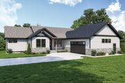 Craftsman Style House Plan - 3 Beds 2.5 Baths 2964 Sq/Ft Plan #1070-128 Exterior - Front Elevation