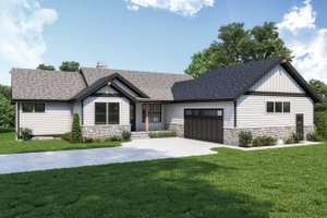 Craftsman Exterior - Front Elevation Plan #1070-128