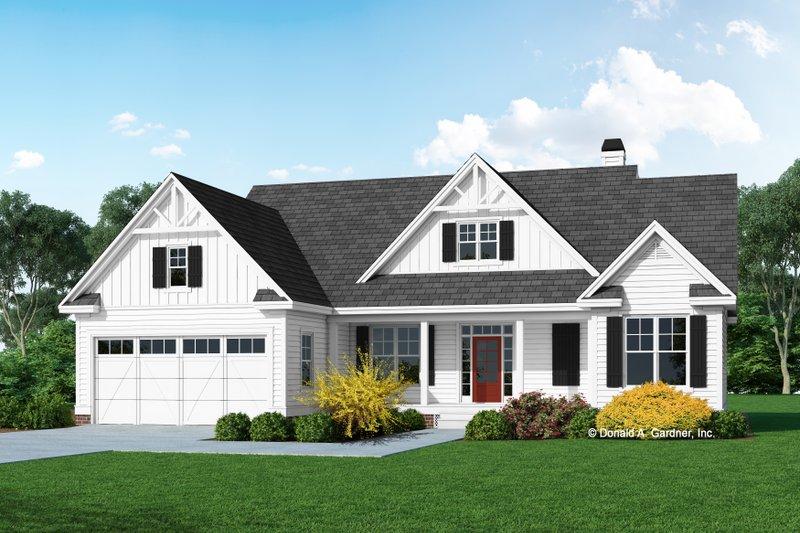 Dream House Plan - Farmhouse Exterior - Front Elevation Plan #929-1119