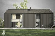 Modern Style House Plan - 3 Beds 2.5 Baths 1752 Sq/Ft Plan #552-3 Exterior - Rear Elevation