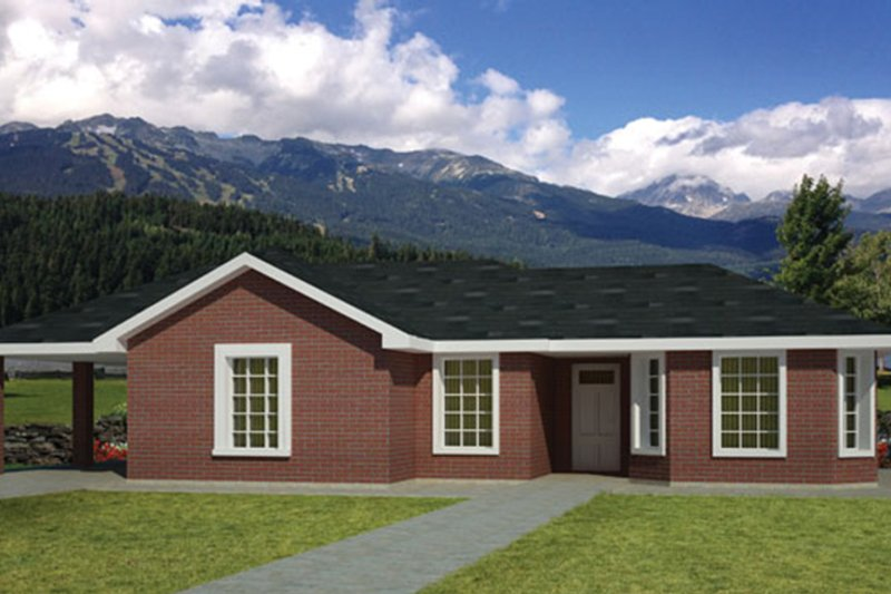 Ranch Exterior - Front Elevation Plan #1061-31 - Houseplans.com