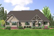Craftsman Style House Plan - 3 Beds 2.5 Baths 2357 Sq/Ft Plan #48-556 Exterior - Rear Elevation