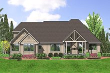 Architectural House Design - Rear View - 2350 square foot Craftsman home