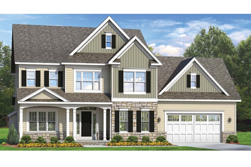Colonial Exterior - Front Elevation Plan #1010-58