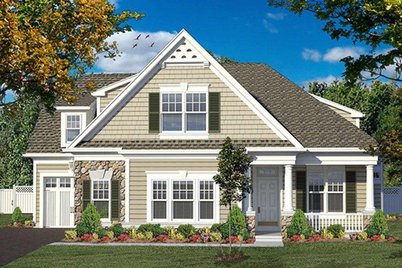 Colonial Exterior - Front Elevation Plan #316-276 - Houseplans.com