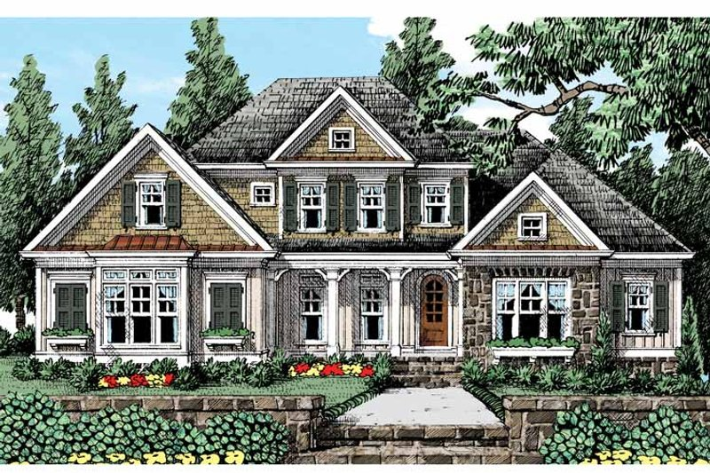 Country Exterior - Front Elevation Plan #927-429 - Houseplans.com
