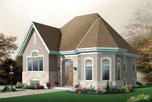 European Exterior - Front Elevation Plan #23-654