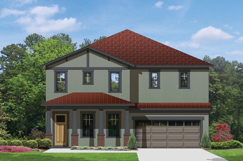 Architectural House Design - Craftsman Exterior - Front Elevation Plan #1058-69