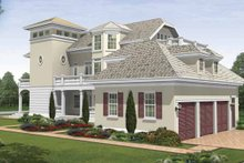 Southern Exterior - Rear Elevation Plan #930-407