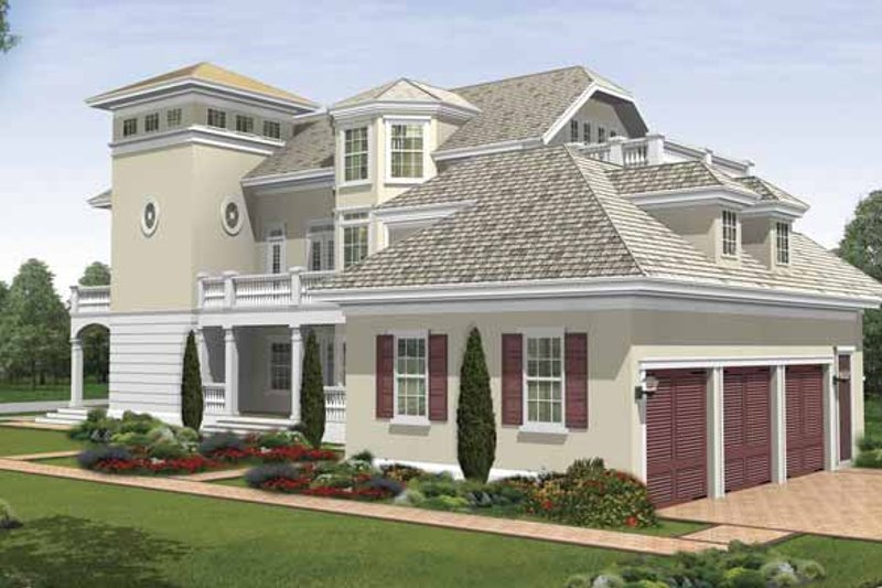 Southern Exterior - Rear Elevation Plan #930-407 - Houseplans.com