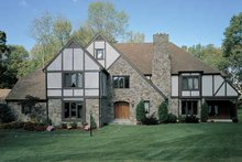 Tudor Exterior - Front Elevation Plan #72-619