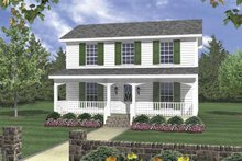 Architectural House Design - Traditional Exterior - Front Elevation Plan #21-420