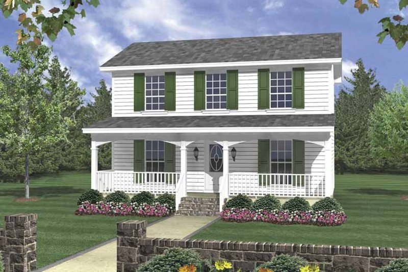 Traditional Exterior - Front Elevation Plan #21-420 - Houseplans.com