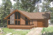 House Plan - 2 Beds 2 Baths 920 Sq/Ft Plan #116-219 Exterior - Front Elevation
