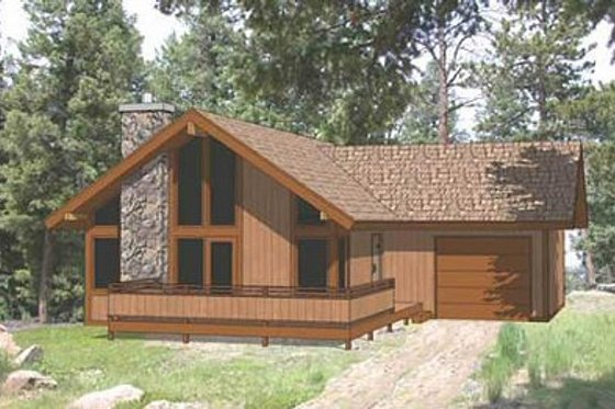 Exterior - Front Elevation Plan #116-219