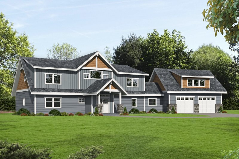 Dream House Plan - Traditional Exterior - Front Elevation Plan #117-907