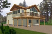 Modern Style House Plan - 3 Beds 2.5 Baths 1811 Sq/Ft Plan #117-422 Exterior - Front Elevation