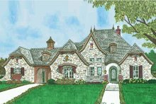 House Plan Design - European Exterior - Front Elevation Plan #310-1302