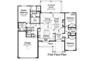 Ranch Style House Plan - 3 Beds 2.5 Baths 1894 Sq/Ft Plan #46-882 Floor Plan - Main Floor Plan