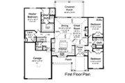 Ranch Style House Plan - 3 Beds 2.5 Baths 1894 Sq/Ft Plan #46-882 Floor Plan - Main Floor