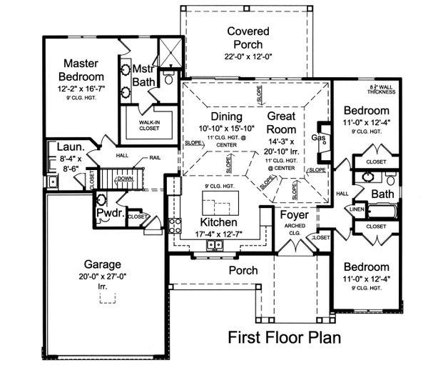 Home Plan - Ranch Floor Plan - Main Floor Plan #46-882