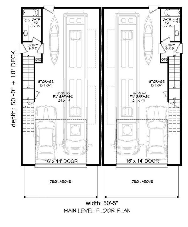 Contemporary Floor Plan - Main Floor Plan Plan #932-179