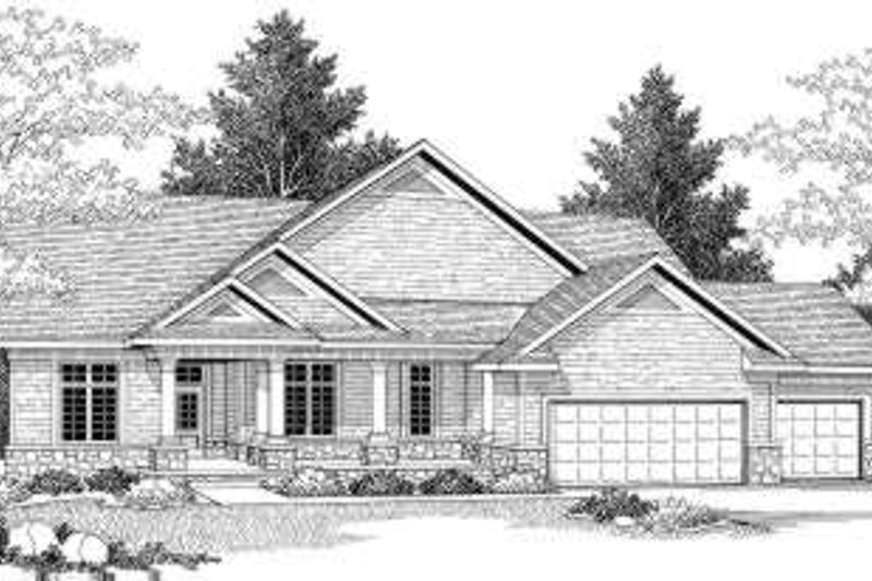 Traditional Style House Plan - 2 Beds 2 Baths 2194 Sq/Ft Plan #70-594 Exterior - Front Elevation