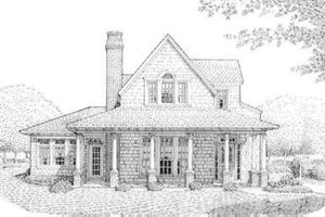 Dream House Plan - Bungalow Exterior - Front Elevation Plan #410-241