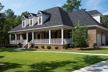 Architectural House Design - Front View - 3100 square foot Southern home